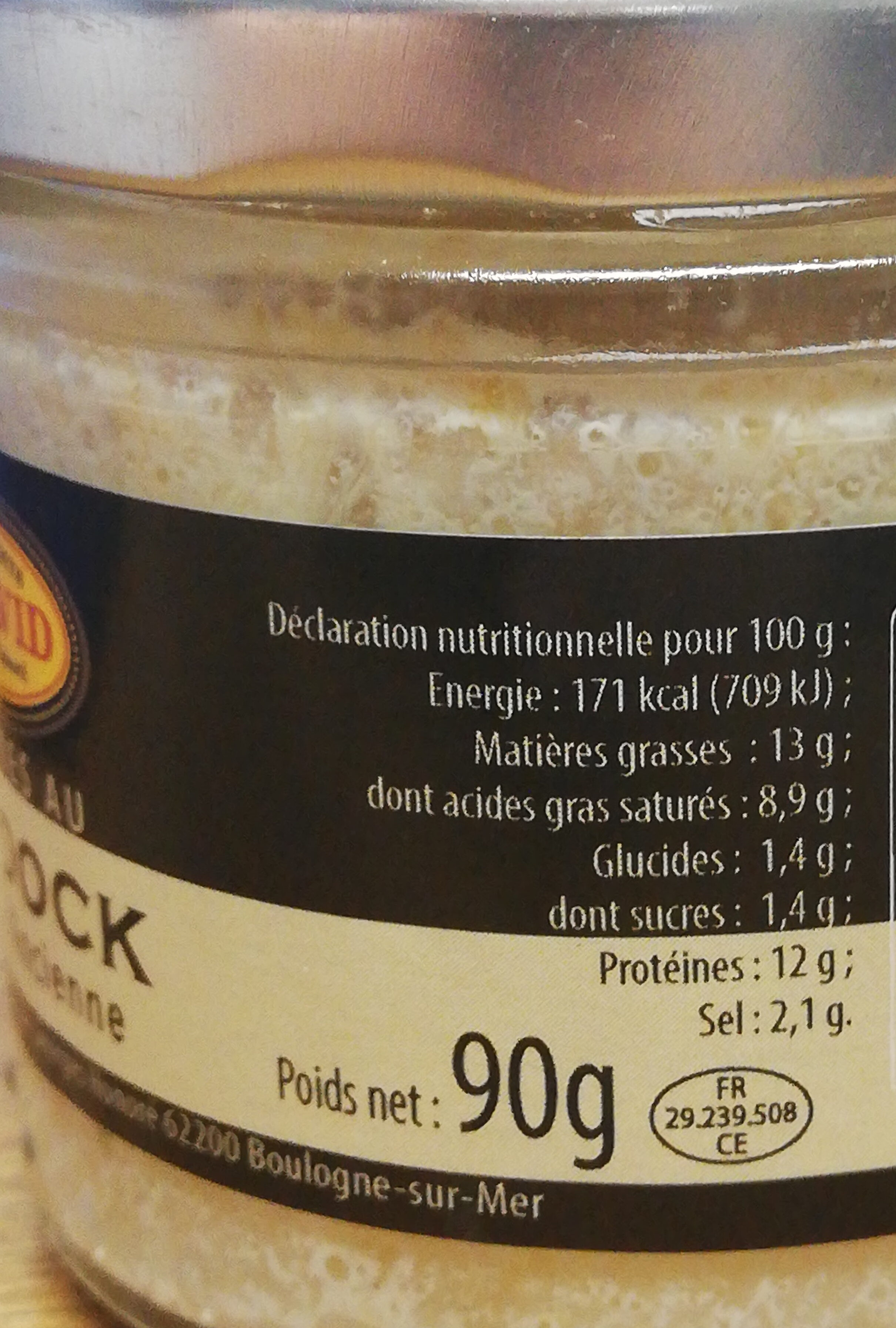 Rillettes de haddock - Nutrition facts