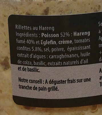 Rillettes de hareng - Ingrédients - fr