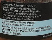 Foie de lotte - Ingredients - fr