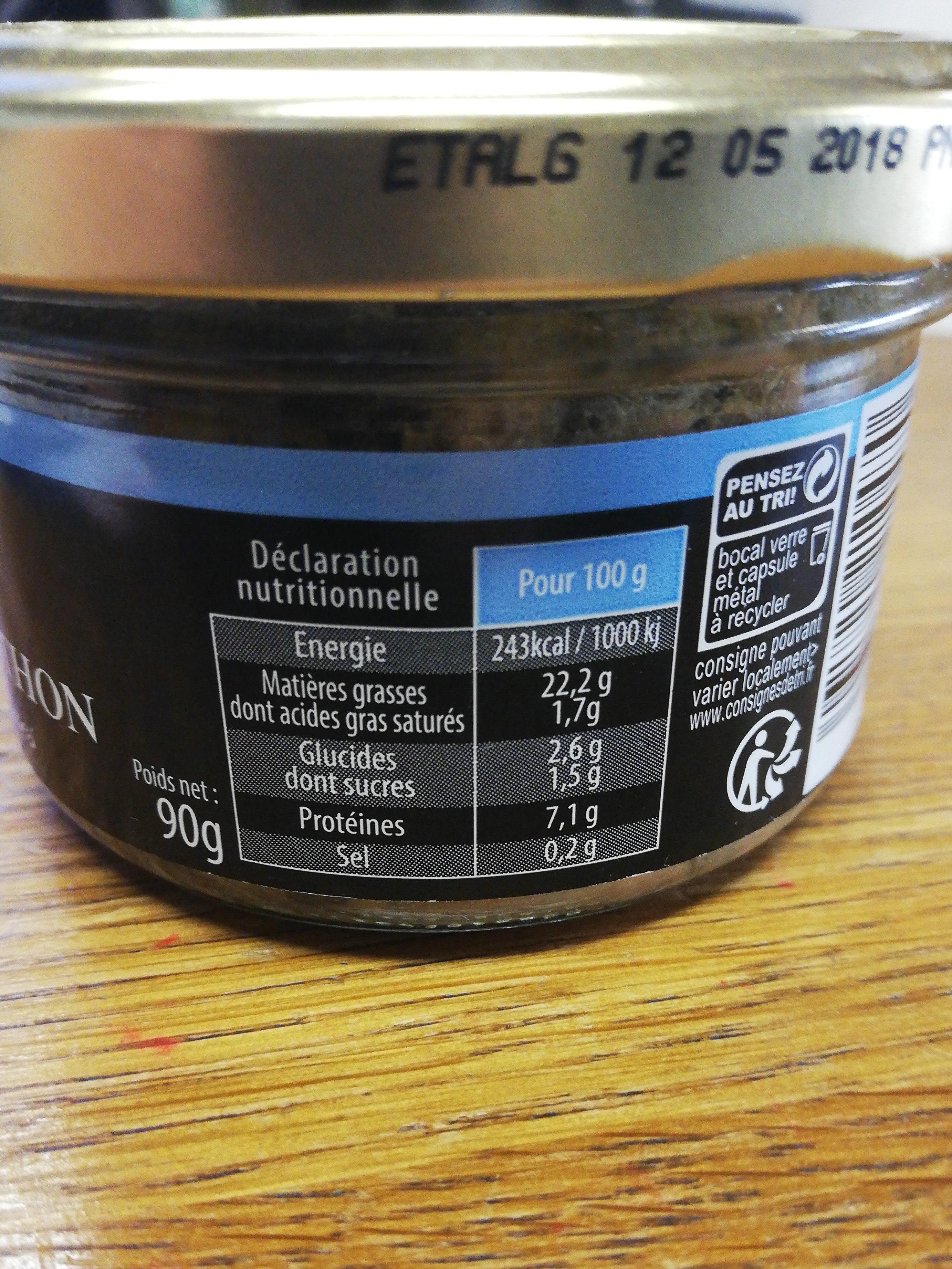 Émietté de Thon - Nutrition facts - fr