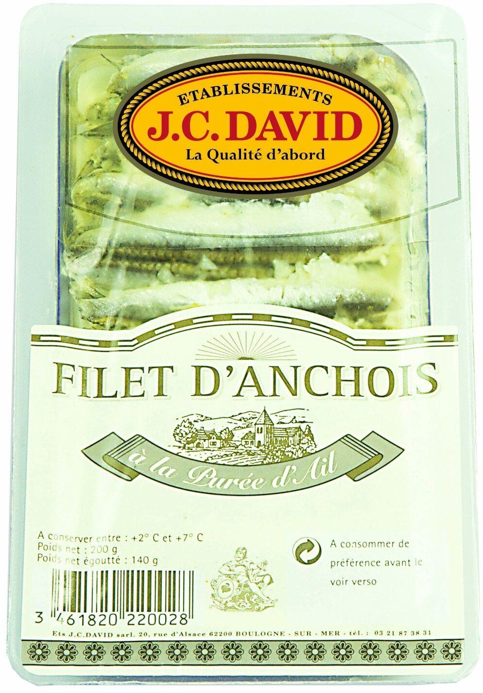 Filet d'anchois à la purée d'ail - Product - fr