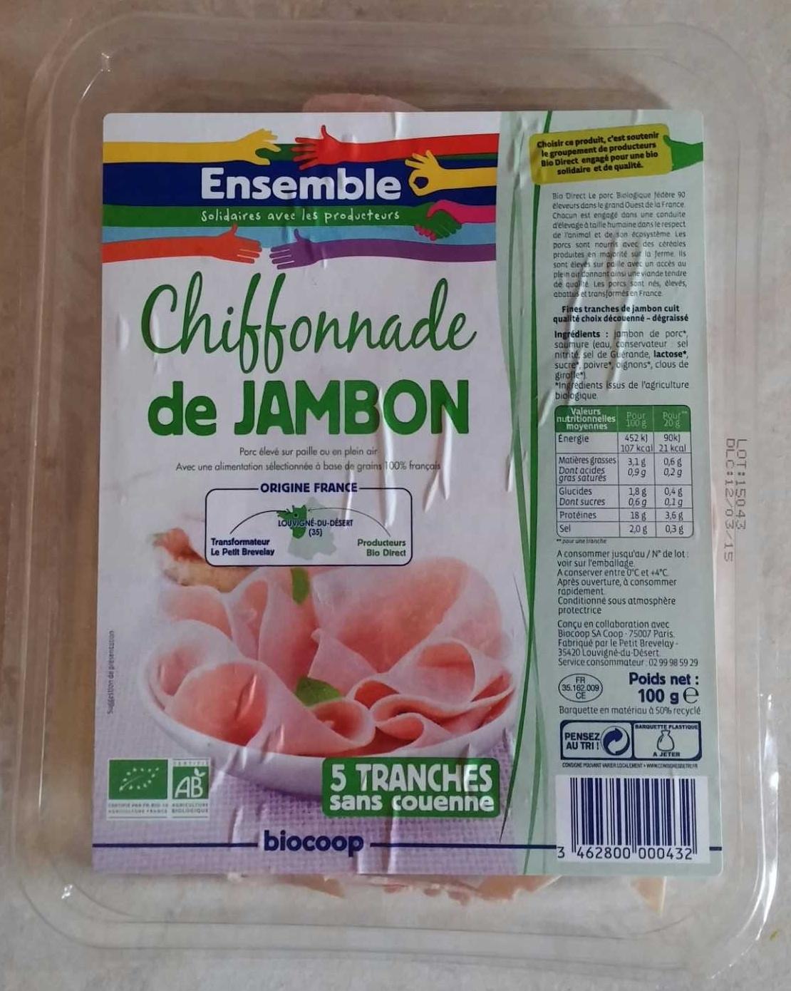 Chiffonade de jambon - Product