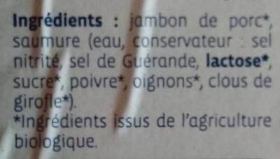 Chiffonade de jambon - Ingredients