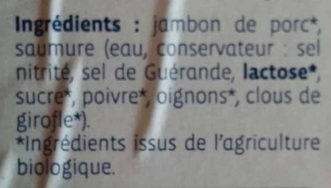 Chiffonade de jambon - Ingrediënten