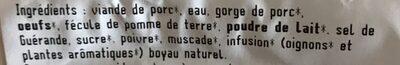 Boudin blanc - Ingrédients - fr