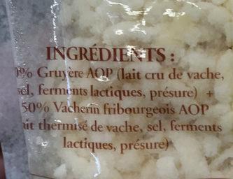 Véritable Fondue Suisse - Ingredients