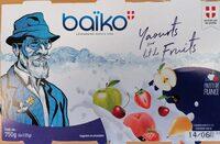 Corbeille de fruits : pomme-cerise-poire-fraise-pêche-cassis - Product - fr