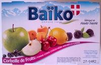 Corbeille de fruits : pomme-cerise-citron-mûre-mirabelle-cassis - Product