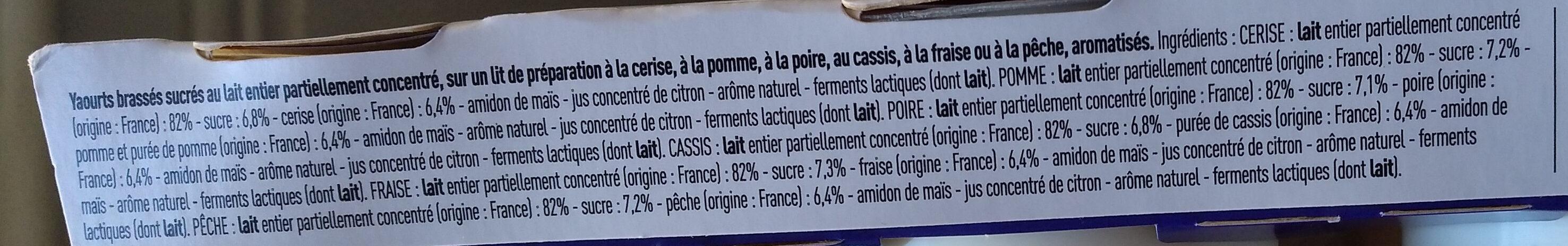 Corbeille de fruits : pomme-cerise-poire-fraise-pêche-cassis - Ingrediënten - fr
