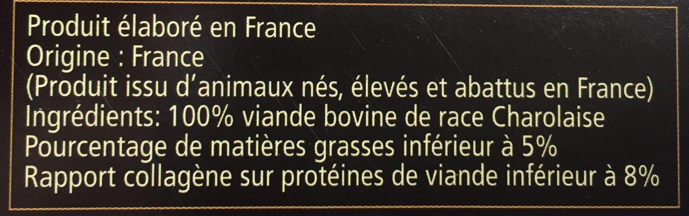 Fondant De Charolais - Ingredients - fr