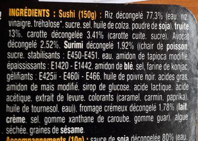 Be Zen sushis - Ingrédients