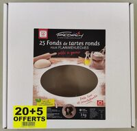 20+5 offerts Fonds de tartes ronds pour flammekueches - Produit - fr