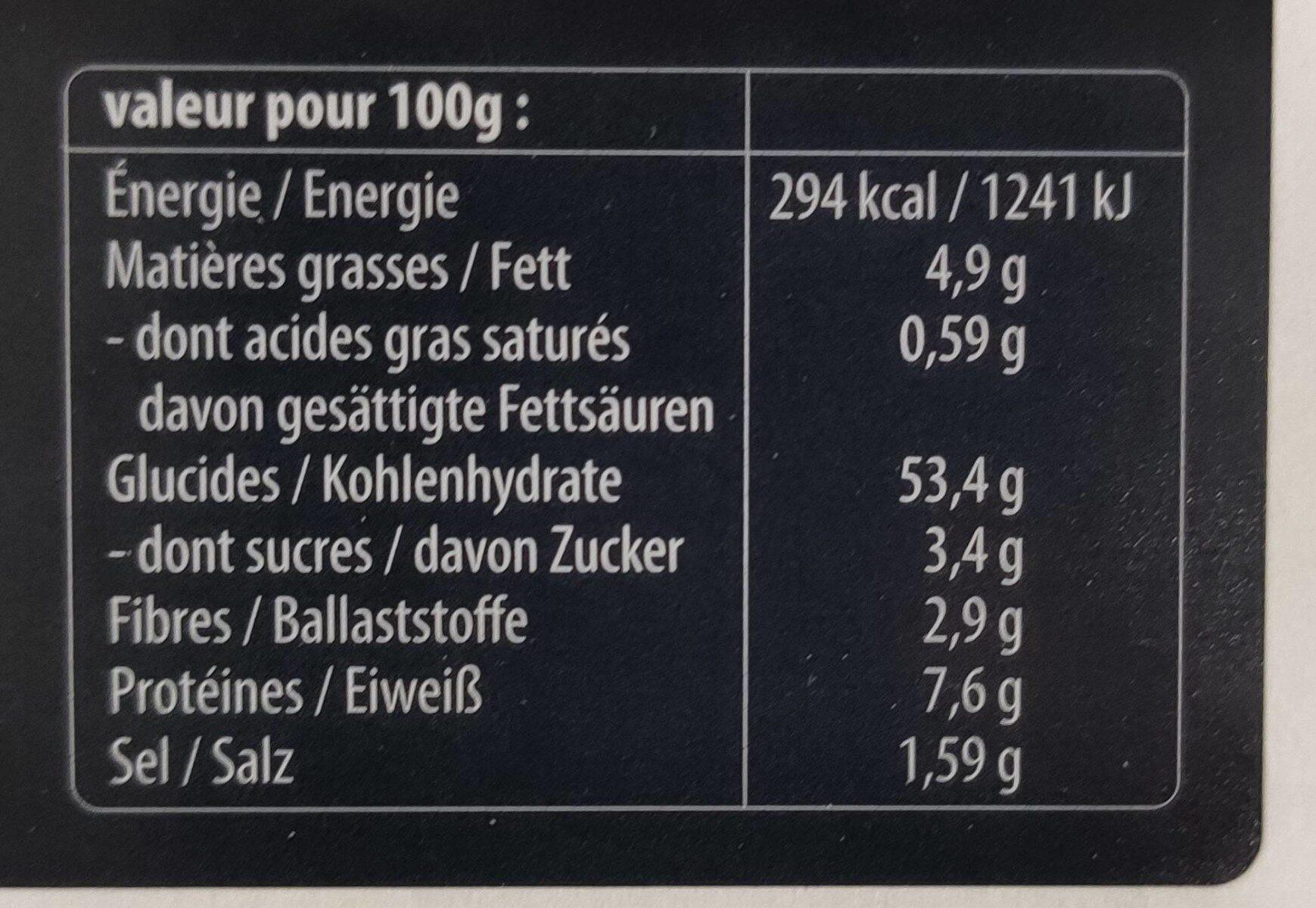 20+5 offerts Fonds de tartes ronds pour flammekueches - Informations nutritionnelles - fr
