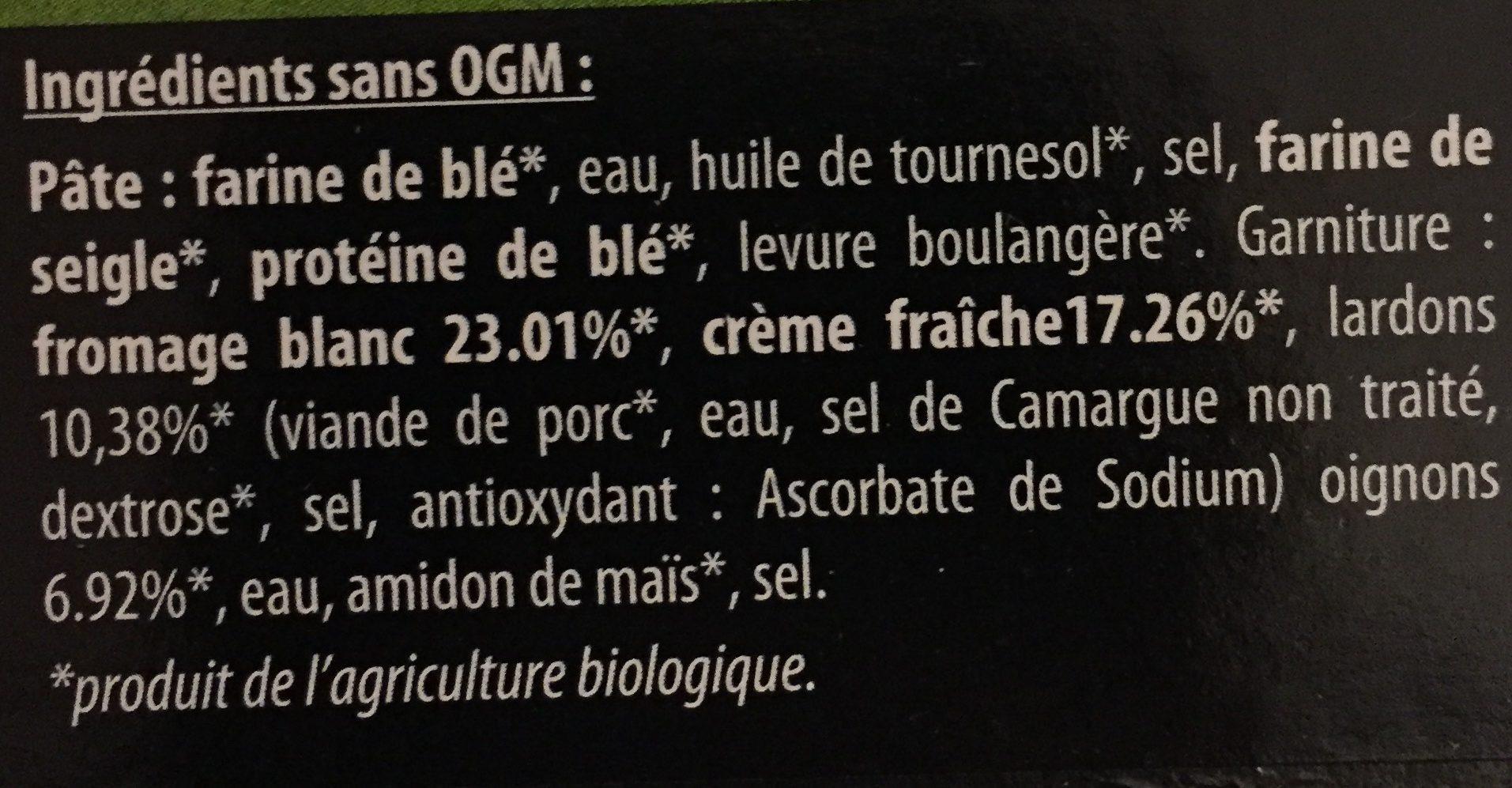 Tartes Flambées d'Alsace - Flammekueche Tradition - Ingredients - fr