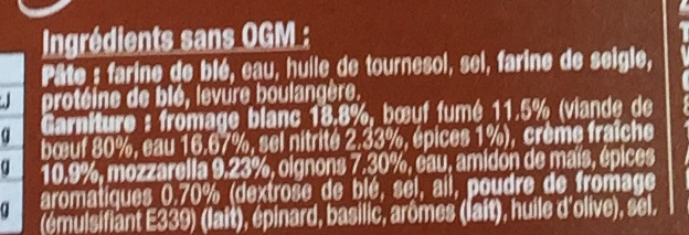 Flammekueche Terroir - Ingrédients - fr