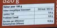 Flammekueche Terroir - Informations nutritionnelles - fr