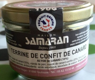 Terrine de confit de canard - Produit - fr