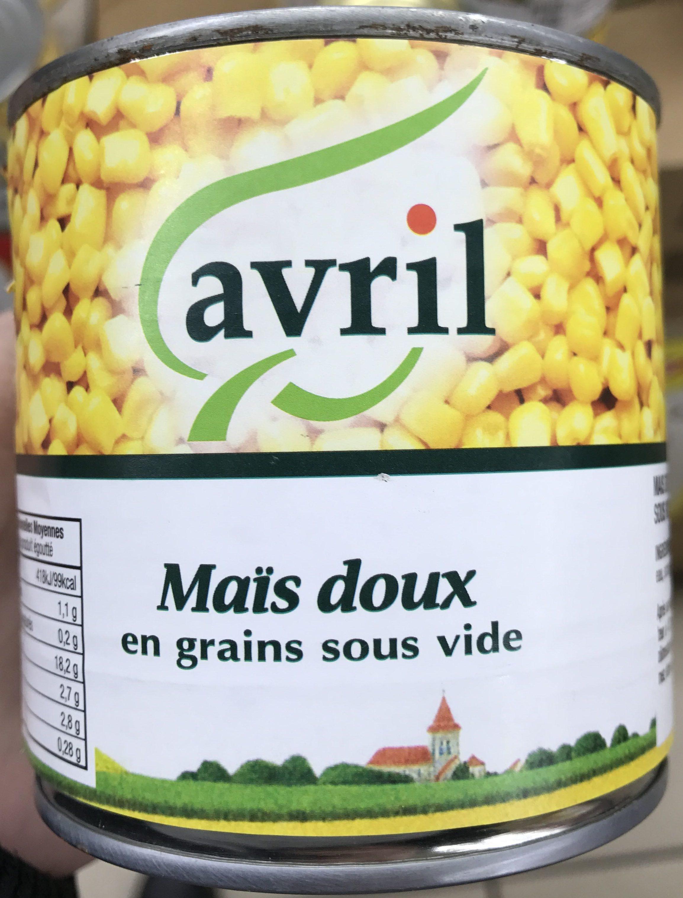Maïs doux en grains sous vide - Produit - fr