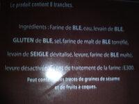 le campagne - Ingredients - fr