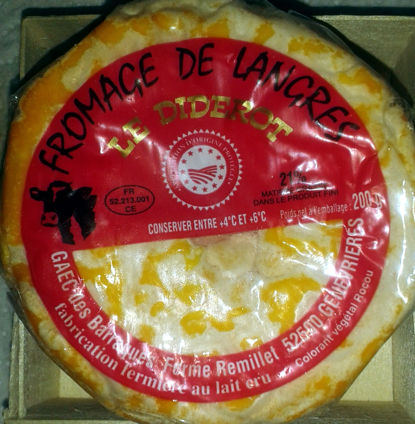 Fromage de Langres AOP (21% MG) - Producto