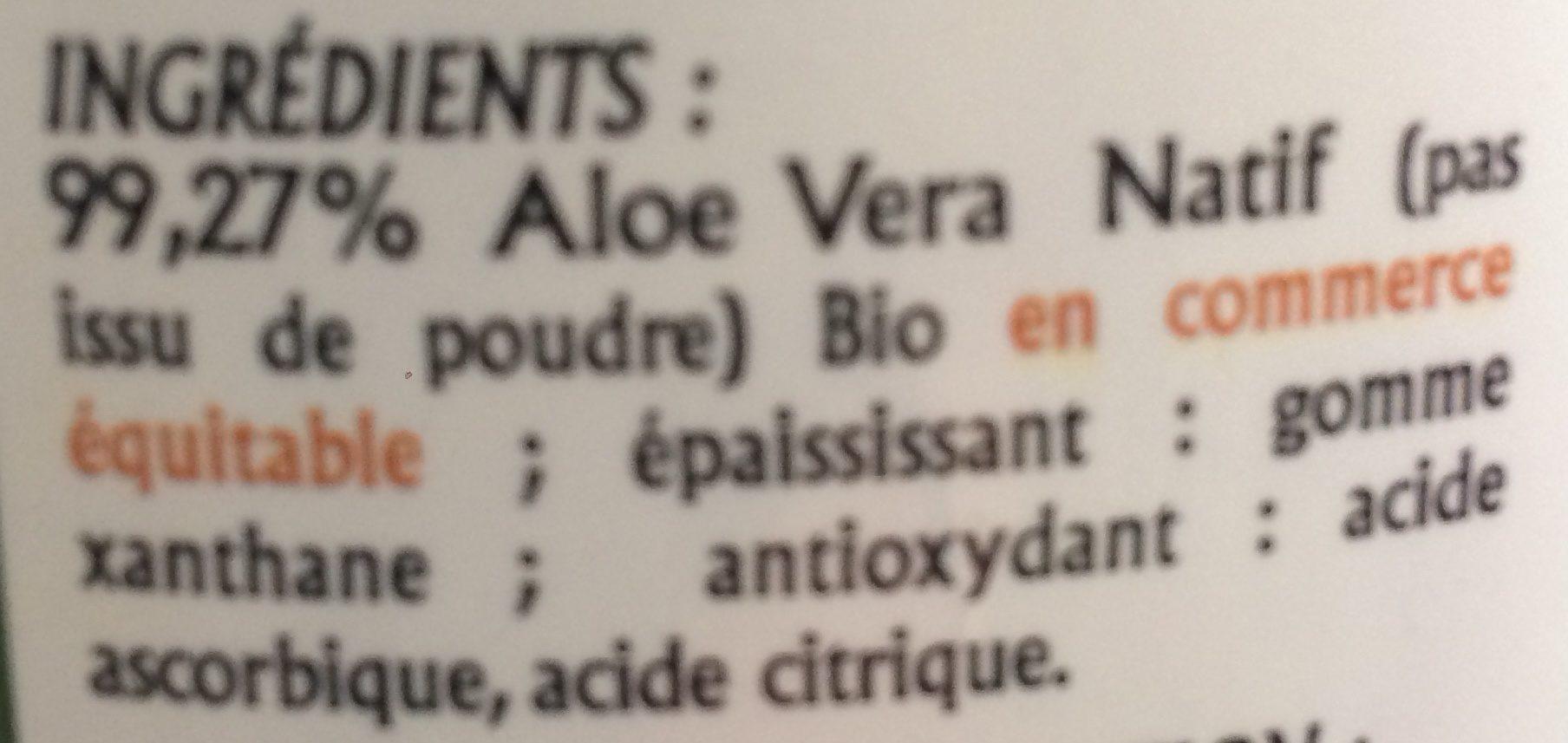 Gel d'Aloe Vera à boire - Ingrediënten - fr