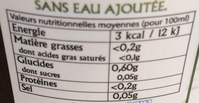 Gel d'Aloe Vera à boire - Voedingswaarden - fr