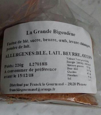La Grande Bigoudène - Ingrediënten - fr