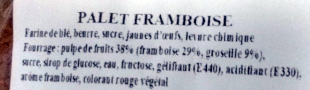 Le Palet Framboise - Ingrédients