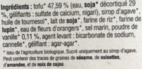 Tof Delice Vanille - Ingredients - fr