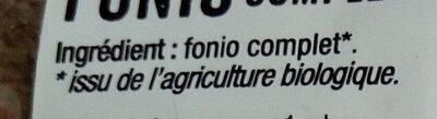 Fonio complet - Ingredienti - fr