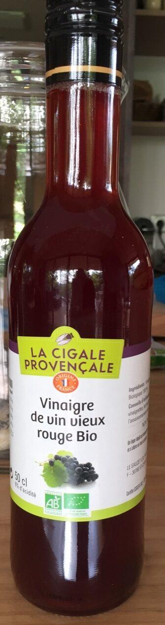 Vinaigre de vin vieux rouge bio 50 cl - Product - fr
