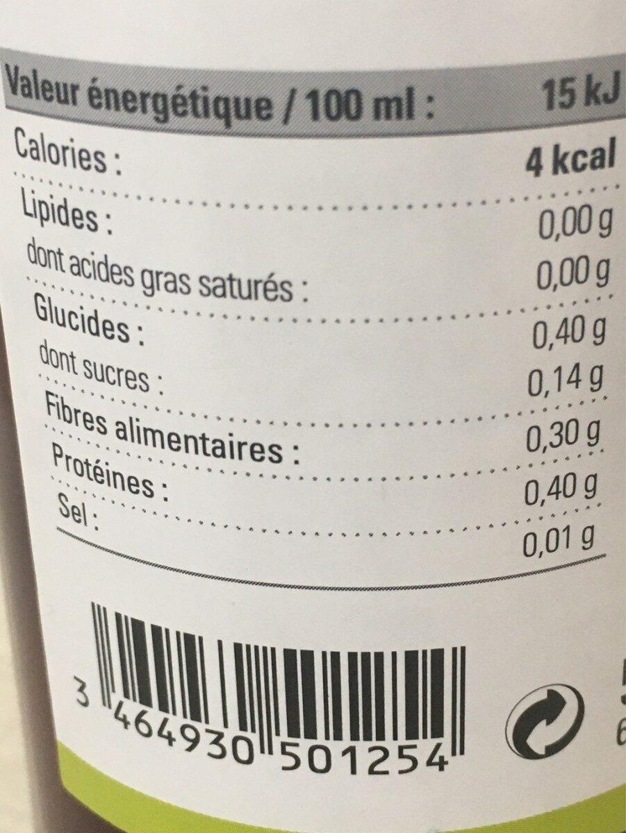 Vinaigre de vin vieux rouge bio 50 cl - Nutrition facts - fr