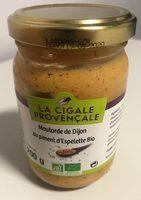 Moutarde de dijon au piment d'Espelette bio - Produit - fr