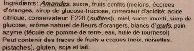Calissons de Provence - Ingrédients - fr