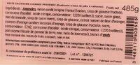 Calisson de provence - Nutrition facts - fr