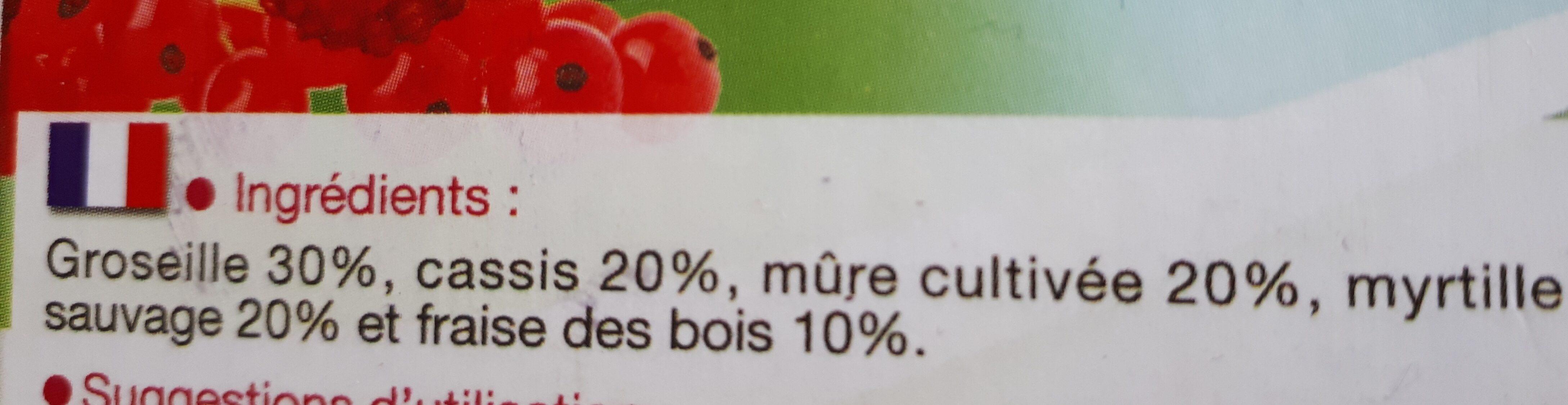 Cockt.fruits Rouges 600G, - Ingrédients