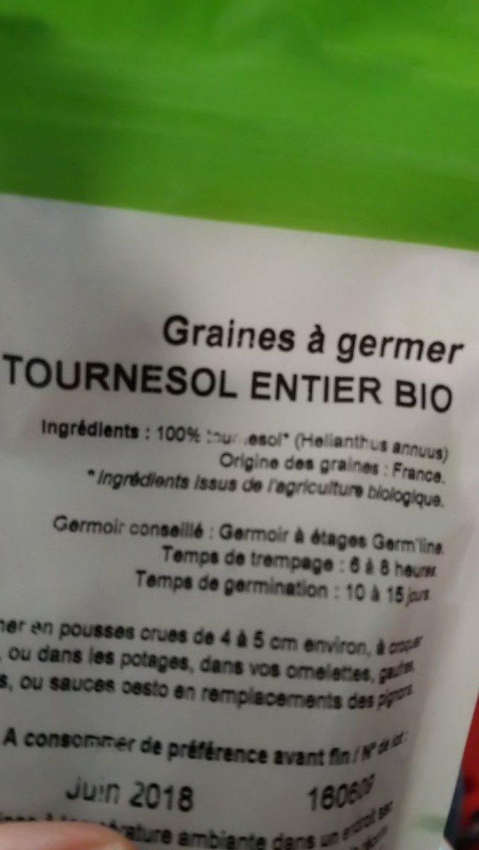 Graines de tournesol à germer - Ingrédients - fr