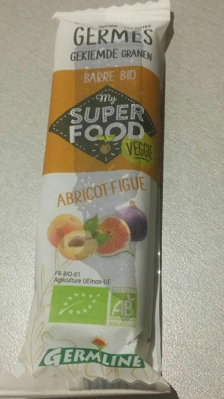 Barre bio My Super Food Veggie Abricot Figue - Produit