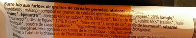Barre bio My Super Food Veggie Abricot Figue - Ingrédients