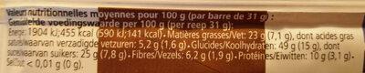 Barre Bio My Super Food Veggie chocolat guarana - Voedingswaarden - fr