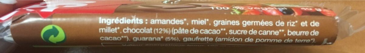 BARRE CEREALES GERMEES GUARANA CHOCOLAT - Ingrédients - fr