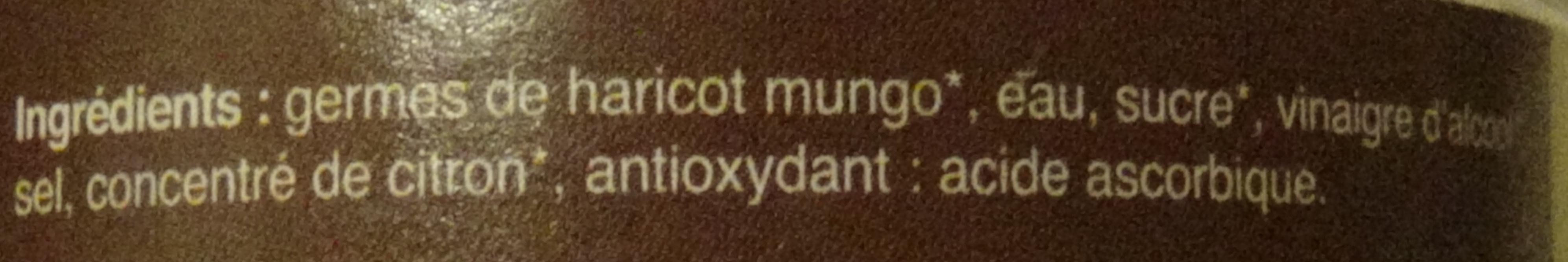 Germes de Haricot Mungo - Ingredienti - fr