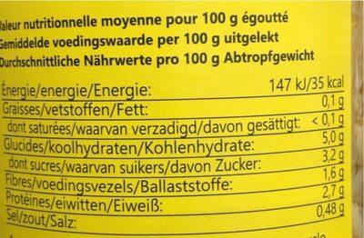 Germes de Haricot Mungo - Valori nutrizionali - fr