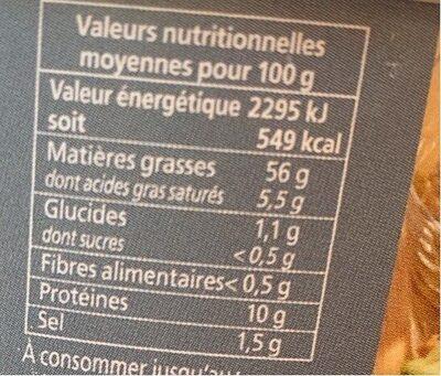 Sardinade fraiche - Informations nutritionnelles - fr