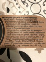Le Dodu saucisson sec pur porc de qualité supérieure - Informations nutritionnelles - fr