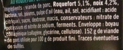 Mini sticks roquefort & noix - Ingredients