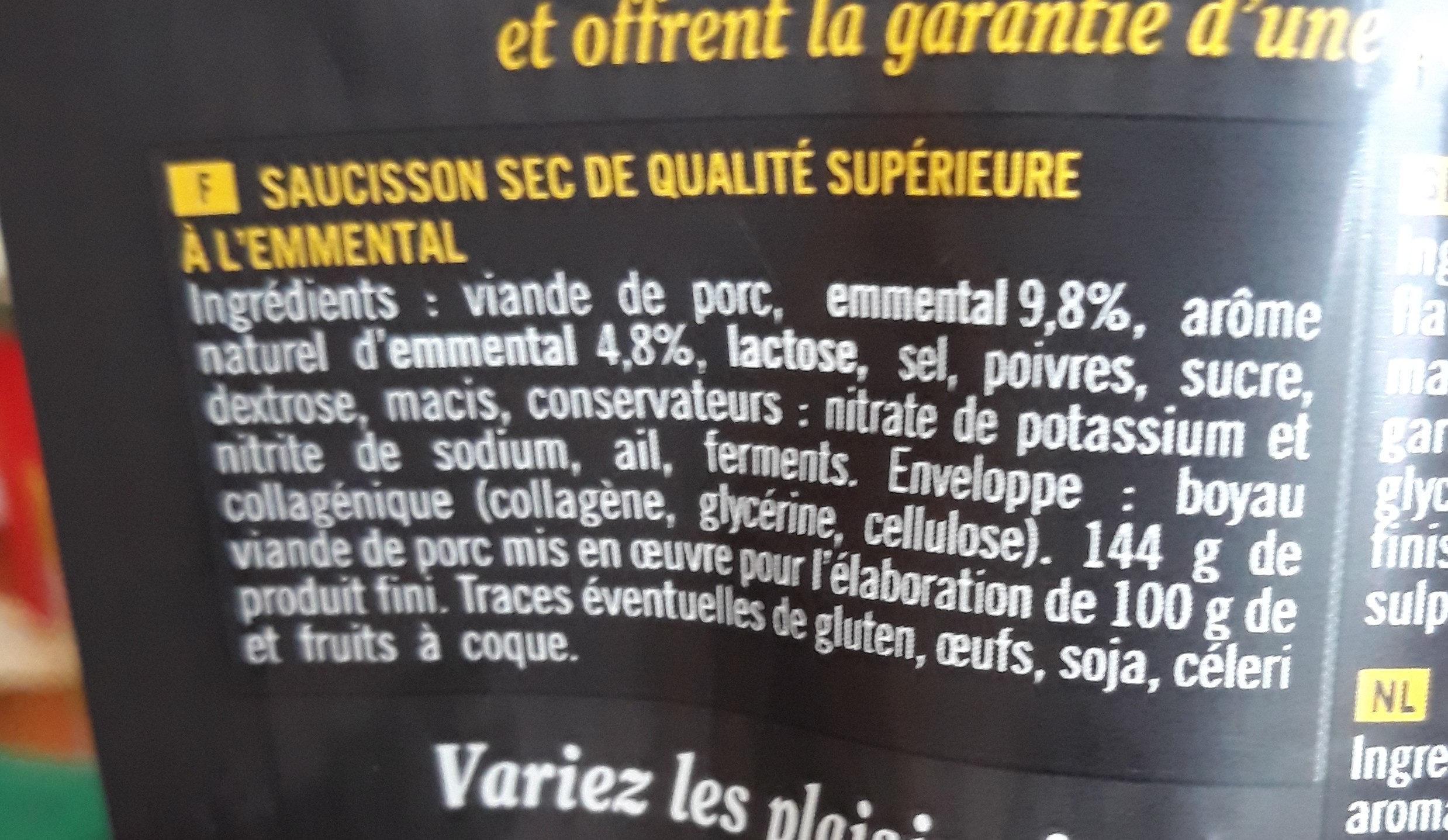 Mini Sticks Emmental - Ingredients - fr