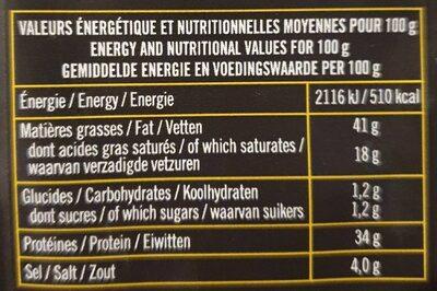 Mini Sticks Emmental - Nutrition facts - fr