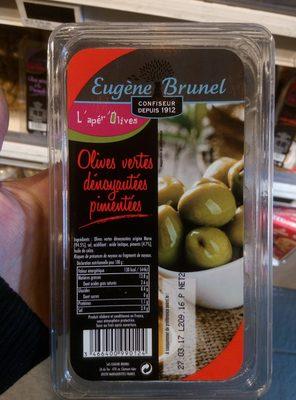Olives Vertes Dénoyautées Pimentées - 1