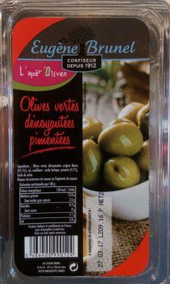 Olives Vertes Dénoyautées Pimentées - Product